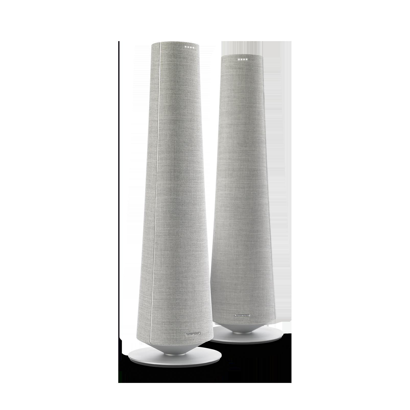 Harman Kardon Citation Tower - Grey - Smart Premium Floorstanding Speaker that delivers an impactful performance - Hero